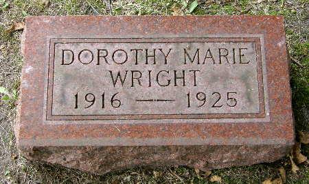 WRIGHT, DOROTHY MARIE - Black Hawk County, Iowa   DOROTHY MARIE WRIGHT