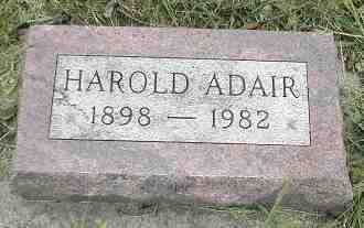 ADAIR, HAROLD - Boone County, Iowa | HAROLD ADAIR