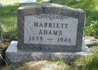 SAVITS ADAMS, HARRIETT - Boone County, Iowa | HARRIETT SAVITS ADAMS