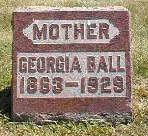 BALL, GEORGIA - Boone County, Iowa | GEORGIA BALL