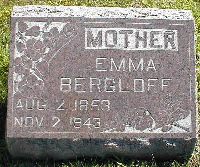BERGLOFF, EMMA - Boone County, Iowa | EMMA BERGLOFF
