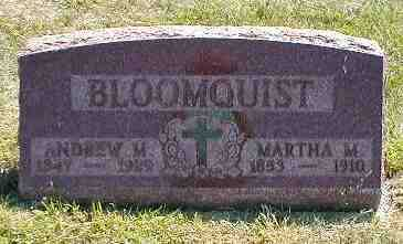 BLOOMQUIST, MARTHA M. - Boone County, Iowa | MARTHA M. BLOOMQUIST
