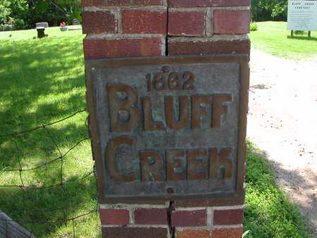 BLUFF CREEK, CEMETERY - Boone County, Iowa | CEMETERY BLUFF CREEK