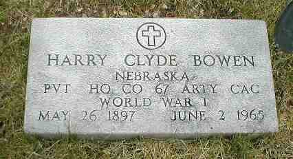 BOWEN, HARRY CLYDE - Boone County, Iowa | HARRY CLYDE BOWEN