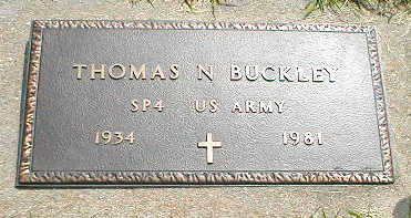BUCKLEY, THOMAS N. - Boone County, Iowa | THOMAS N. BUCKLEY