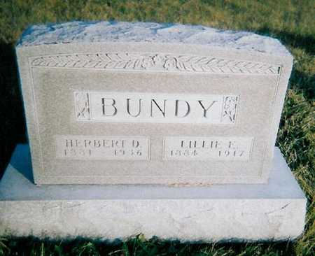 BUNDY, HERBERT D. - Boone County, Iowa | HERBERT D. BUNDY