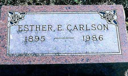 CARLSON, ESTHER E. - Boone County, Iowa   ESTHER E. CARLSON