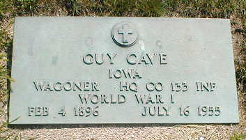 CAVE, GUY - Boone County, Iowa | GUY CAVE