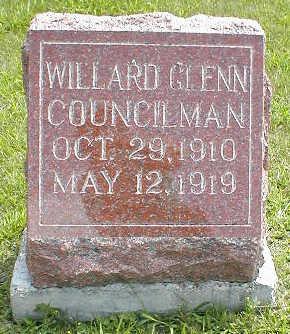 COUNCILMAN, WILLARD GLENN - Boone County, Iowa | WILLARD GLENN COUNCILMAN