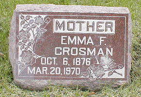 CROSMAN, EMMA F. - Boone County, Iowa | EMMA F. CROSMAN