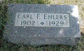 EHLERS, CARL F. - Boone County, Iowa   CARL F. EHLERS