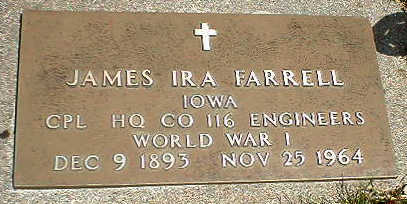 FARRELL, JAMES IRA - Boone County, Iowa | JAMES IRA FARRELL