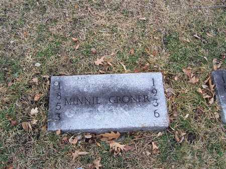 GRONER, MINNIE - Boone County, Iowa | MINNIE GRONER