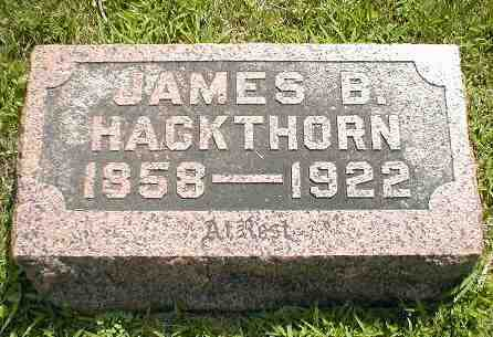 HACKTHORN, JAMES B. - Boone County, Iowa | JAMES B. HACKTHORN