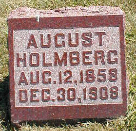 HOLMBERG, AUGUST - Boone County, Iowa | AUGUST HOLMBERG