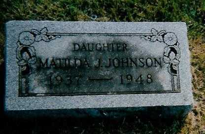 JOHNSON, MATILDA J. - Boone County, Iowa | MATILDA J. JOHNSON