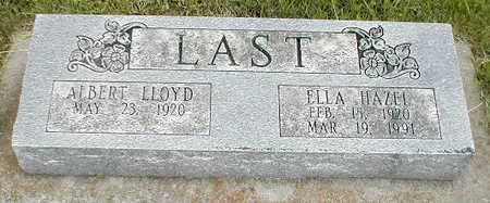 LAST, ALBERT LLOYD - Boone County, Iowa | ALBERT LLOYD LAST