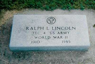 LINCOLN, RALPH L - Boone County, Iowa | RALPH L LINCOLN