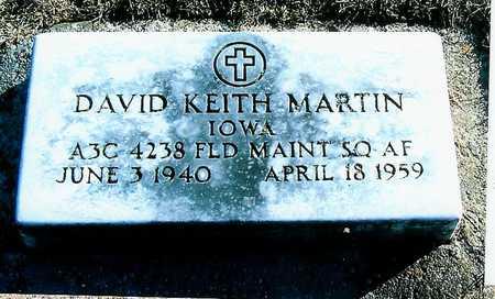 MARTIN, DAVID KEITH - Boone County, Iowa   DAVID KEITH MARTIN
