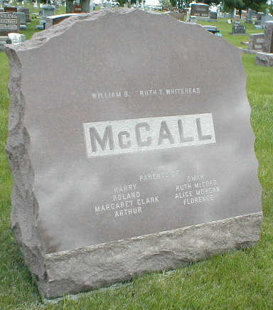 MCCALL, FAMILY TOMBSTONE - Boone County, Iowa | FAMILY TOMBSTONE MCCALL