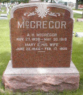 MCGREGOR, A.H. - Boone County, Iowa | A.H. MCGREGOR