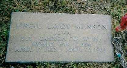 MUNSON, VIRGIL LAVOY - Boone County, Iowa | VIRGIL LAVOY MUNSON