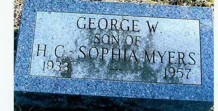MYERS, GEORGE W. - Boone County, Iowa | GEORGE W. MYERS