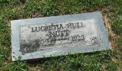 HULL NUTT, LUCRETIA - Boone County, Iowa | LUCRETIA HULL NUTT