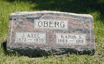 OBERG, J. AXEL - Boone County, Iowa | J. AXEL OBERG