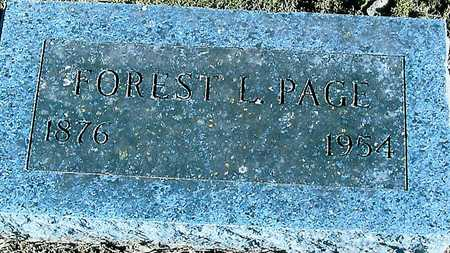 PAGE, FOREST L. - Boone County, Iowa | FOREST L. PAGE