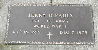 PAULS, JERRY D. - Boone County, Iowa | JERRY D. PAULS