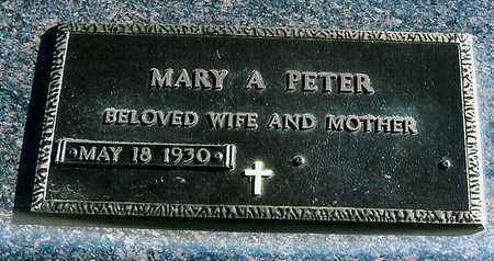 PETER, MARY A. - Boone County, Iowa | MARY A. PETER