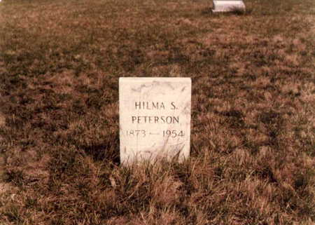 PETERSON, HILMA SOPHIA - Boone County, Iowa   HILMA SOPHIA PETERSON