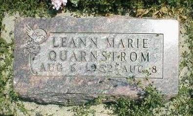 QUARNSTROM, LEANN MARIE - Boone County, Iowa | LEANN MARIE QUARNSTROM