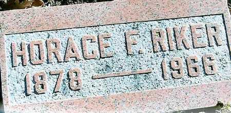 RIKER, HORACE F. - Boone County, Iowa | HORACE F. RIKER