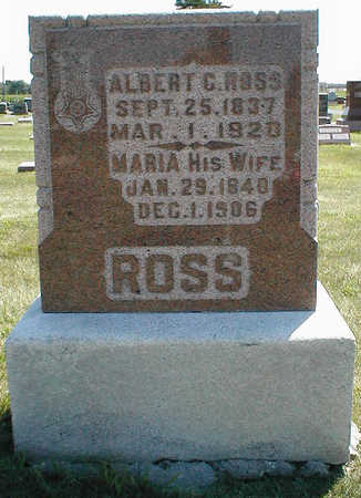 ROSS, ALBERT C. - Boone County, Iowa | ALBERT C. ROSS