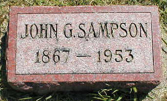 SAMPSON, JOHN G. - Boone County, Iowa | JOHN G. SAMPSON