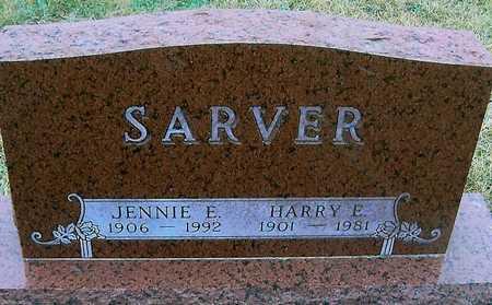 SARVER, JENNIE E. - Boone County, Iowa | JENNIE E. SARVER