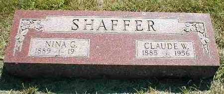 SHAFFER, CLAUDE W. - Boone County, Iowa | CLAUDE W. SHAFFER
