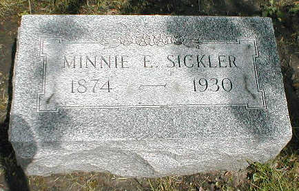 SICKLER, MINNIE E. - Boone County, Iowa | MINNIE E. SICKLER