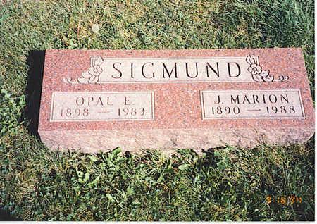 SIGMUND, OPAL - Boone County, Iowa | OPAL SIGMUND