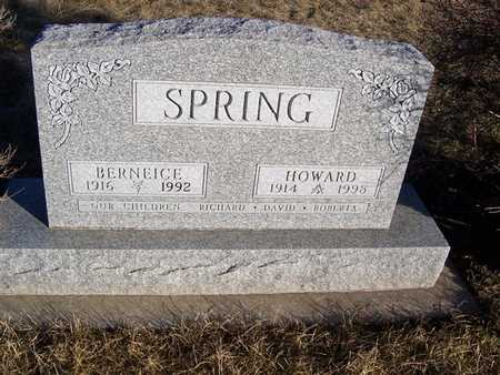 SPRING, HOWARD - Boone County, Iowa   HOWARD SPRING