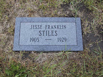 STILES, JESSE FRANKLIN - Boone County, Iowa | JESSE FRANKLIN STILES