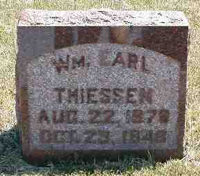 THEISSEN, WM. EARL - Boone County, Iowa | WM. EARL THEISSEN