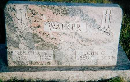 WALKER, BERTHA B. - Boone County, Iowa | BERTHA B. WALKER
