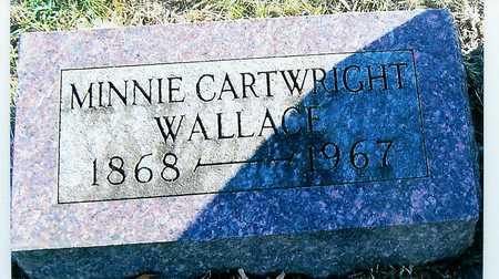 WALLACE, MINNIE CARTWRIGHT - Boone County, Iowa | MINNIE CARTWRIGHT WALLACE