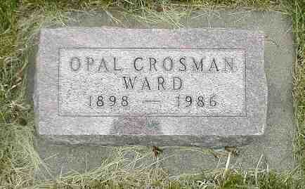 CROSMAN WARD, OPAL - Boone County, Iowa | OPAL CROSMAN WARD