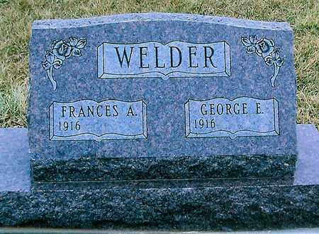 WELDER, GEORGE E. - Boone County, Iowa | GEORGE E. WELDER