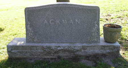 ACKMAN, MINNIE - Bremer County, Iowa | MINNIE ACKMAN
