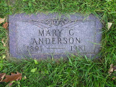 ANDERSON, MARY G - Bremer County, Iowa | MARY G ANDERSON